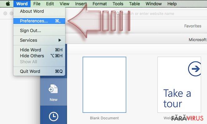 Cum să dezactivaţi macros în Windows şi Mac OS X? captură de ecran
