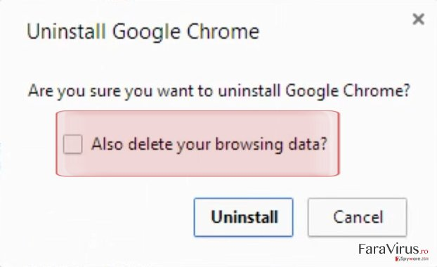 """""""Also delete your browsing data"""""""