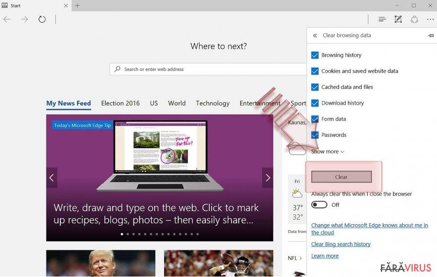 Cum să resetaţi Microsoft Edge? captură de ecran
