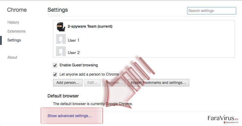 Cum să resetaţi Google Chrome? captură de ecran