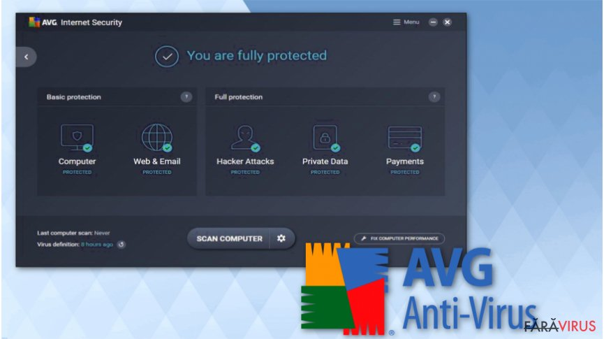 Employ AVG Antivirus software for free