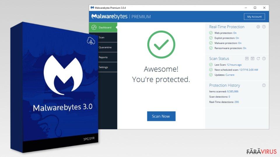 The image of Malwarebytes 3.0
