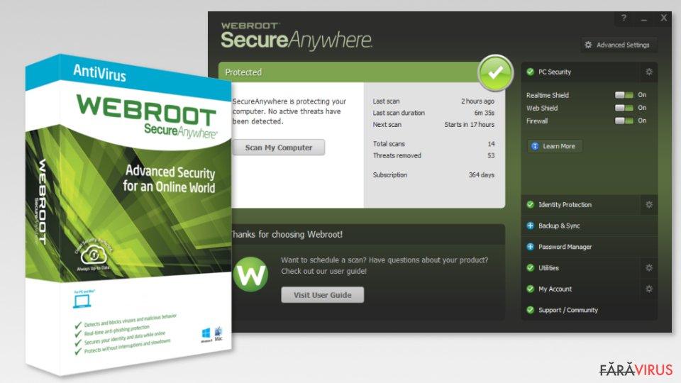 The image of Webroot SecureAnywhere AntiVirus
