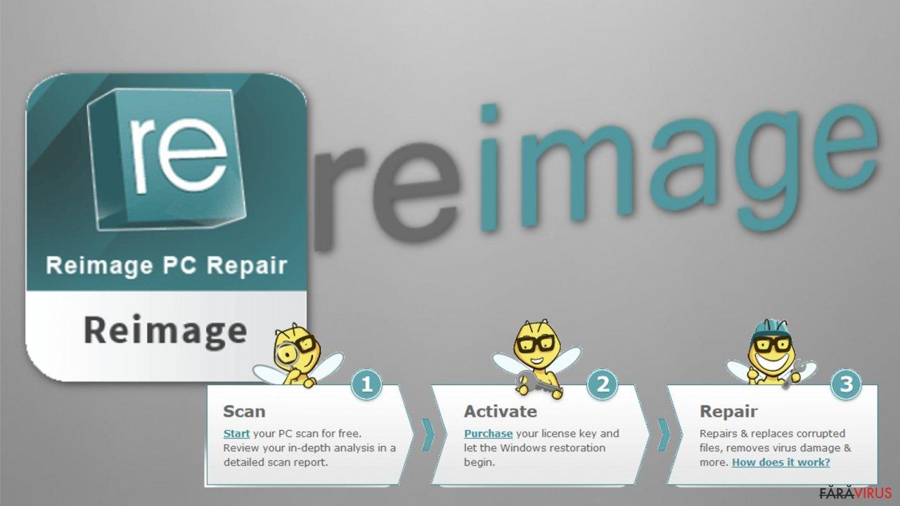 The image of Reimage repair tool