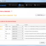 Malwarebytes Anti Malware captură de ecran
