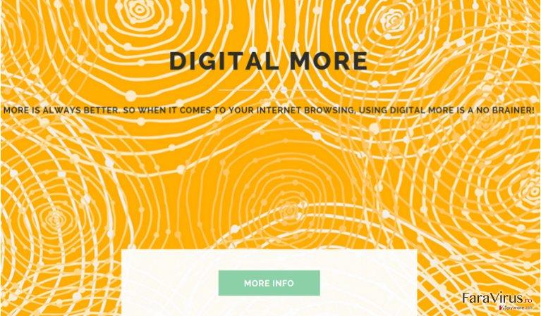 Reclame de către Digital More captură de ecran