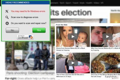 Exemplu de reclame de la AdsKeeper