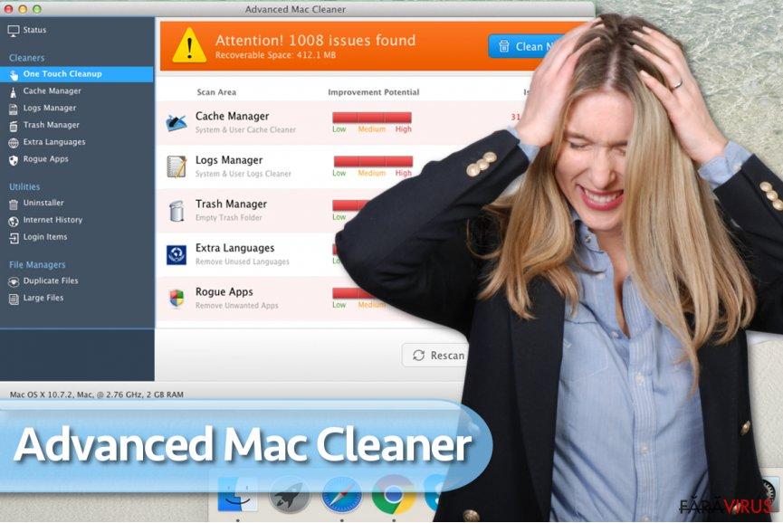Virusul Advanced Mac Cleaner