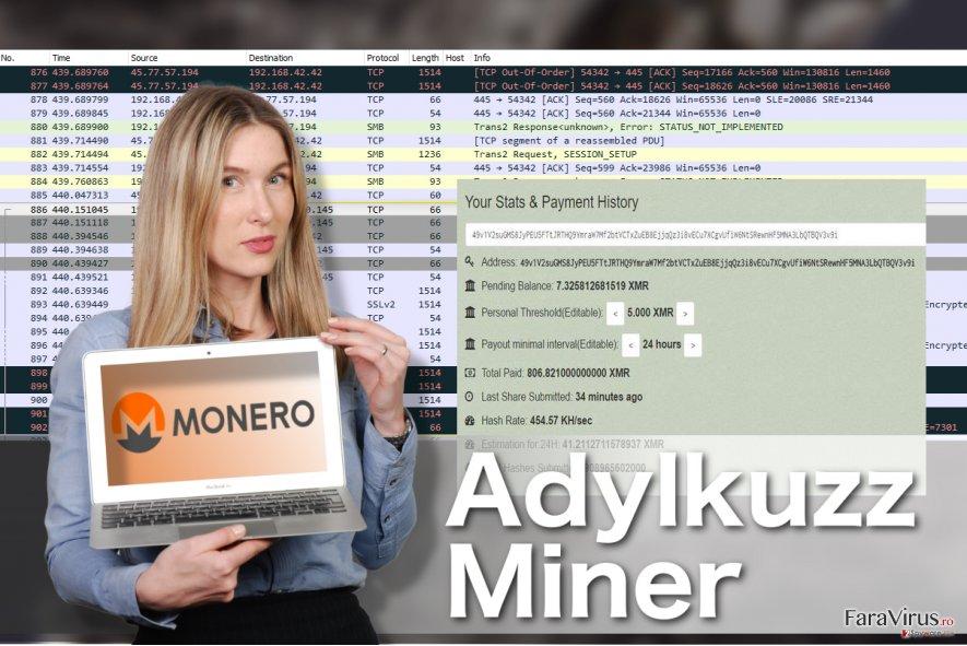 Ilustrarea virusului Adylkuzz Miner