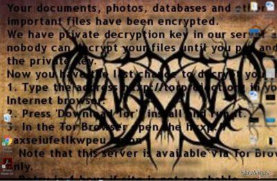 Nota de recompensă a ransomware-ului Al-Namrood