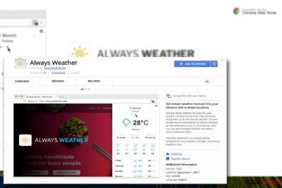 Imaginea care afişează plugin-ul Always Weather