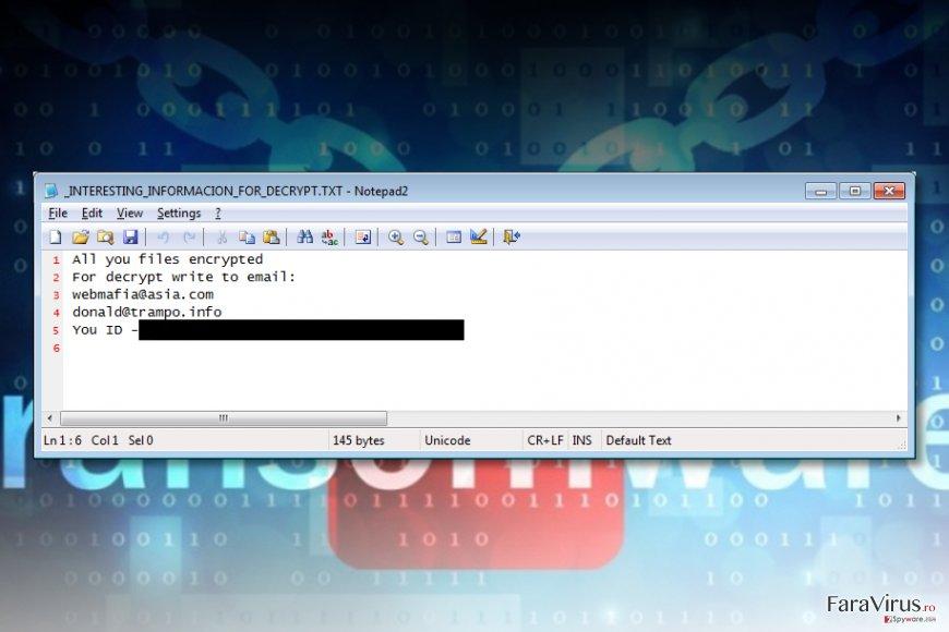 Virusul de tip ransomware Azer