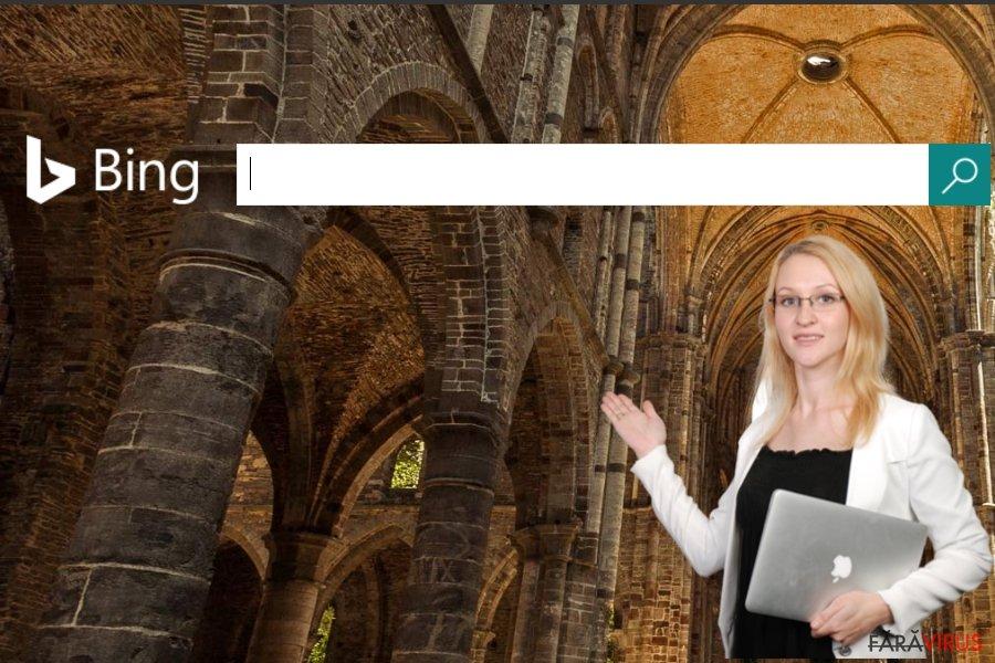 Captură de ecran  a website-ului Bing
