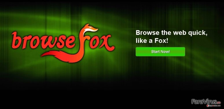 BrowseFox captură de ecran