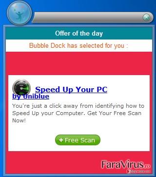 Reclamele de tip pop-up captură de ecran