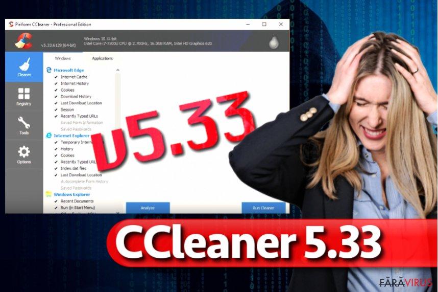 Virusul CCleaner 5.33
