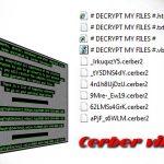 Virusul Cerber captură de ecran