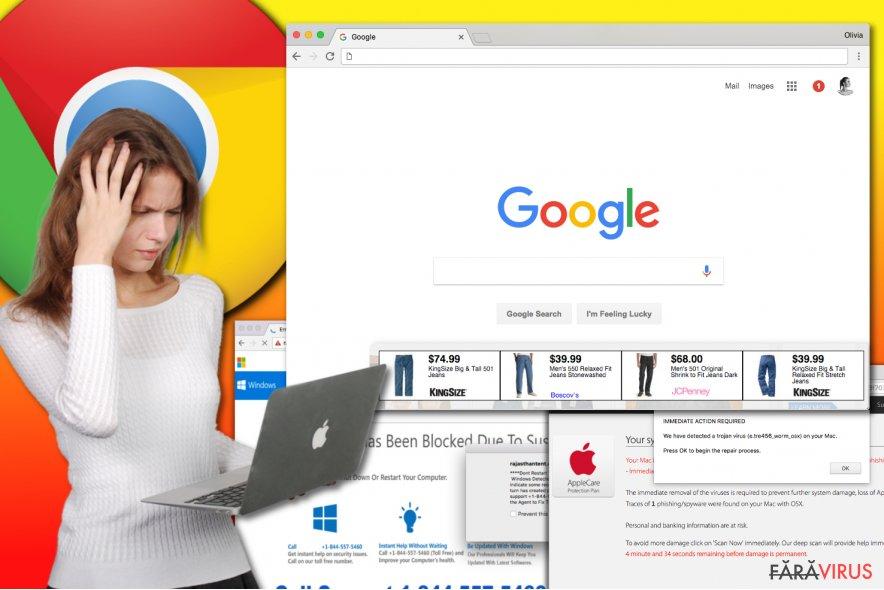 Virusul de tip adware Chrome