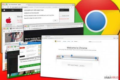 Exemple de reclame afişate de adware-ul Chrome