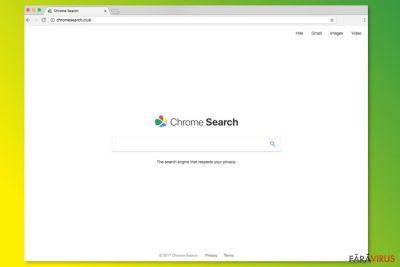 Pagina de start de la ChromeSearch.club