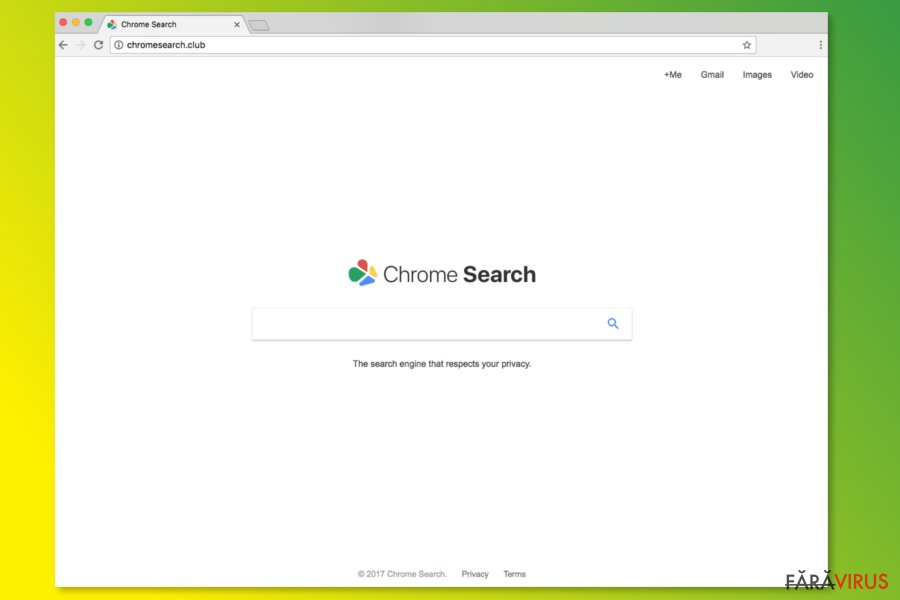Pagina de start de la ChromeSearch.club