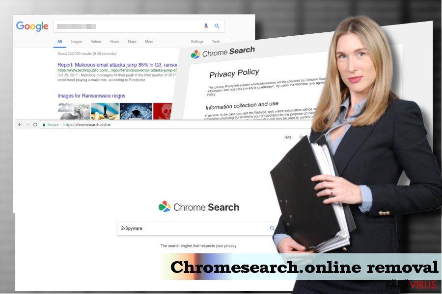 Eliminarea virusului Chromesearch.online