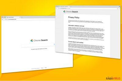 Ilustrarea virusului Chromesearch.win