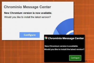 Virusul Chrominio Message Center