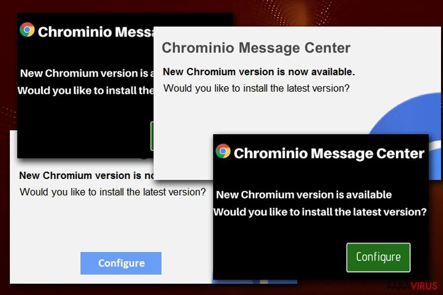Alerta falsă de la Chrominio Message