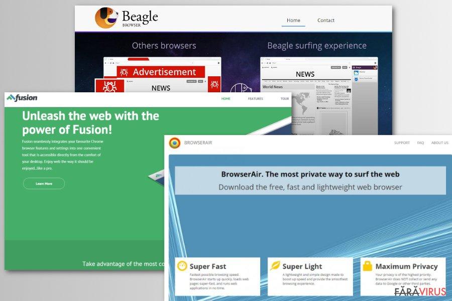 Exemple de browsere false Chromium