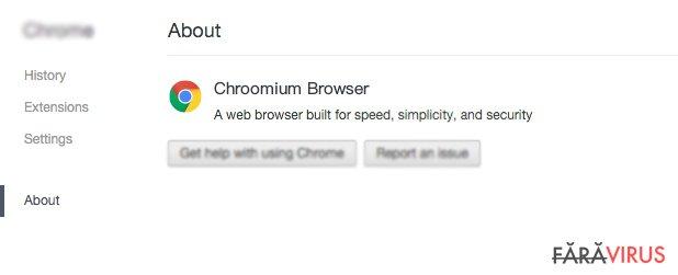 Escrocheria browserului Chroomium