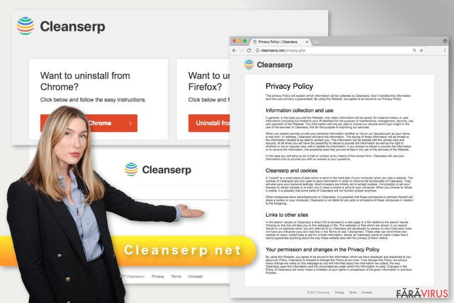 Ilustrarea virusului Cleanserp.net
