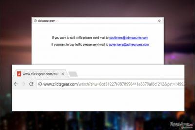 Virusul Clicksgear.com