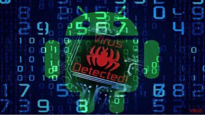 Imaginea care ilustr malware-ul Android, com.google.provisionează