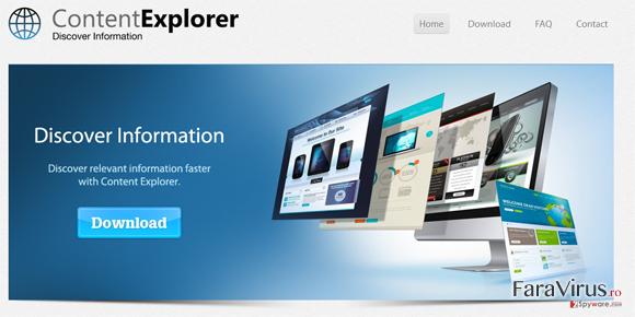 Content Explorer captură de ecran