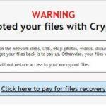 Virusul Crypt0L0cker captură de ecran
