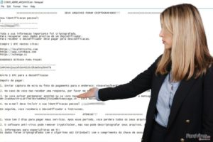 Virusul de tip ransomware Cryptolocker Portughez