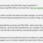 Virusul CryptoWall 2.0 captură de ecran