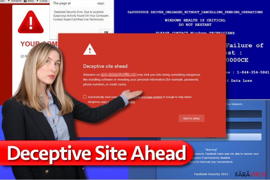 Mesajul Deceptive Site Ahead