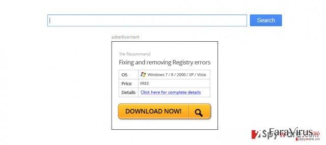 Virusul de redirecţionare Firefox captură de ecran
