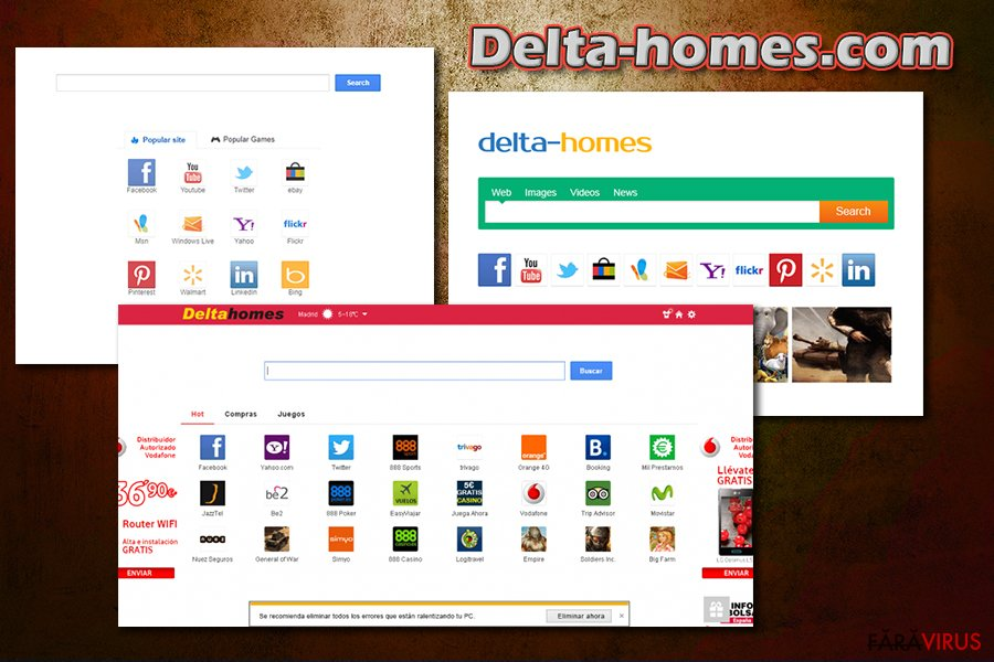 Delta-homes.com captură de ecran