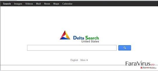 Redirecţionarea Delta-search.com captură de ecran