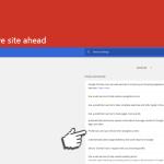 Deceptive site ahead captură de ecran