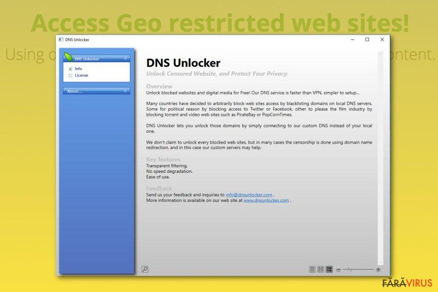 Adware-ul DNS Unlocker