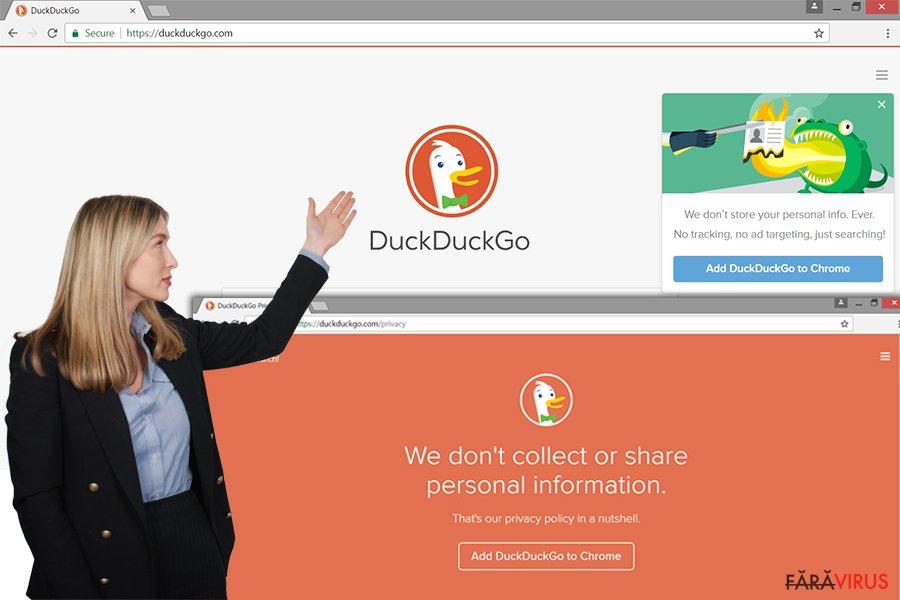 Website-ul adware-ului DuckDuckGo