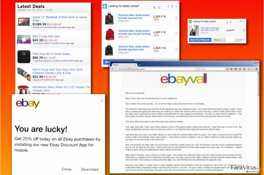 Variantele virusului eBay