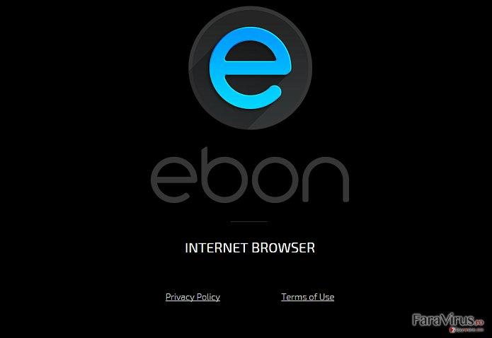 Virusul Ebon Browser captură de ecran