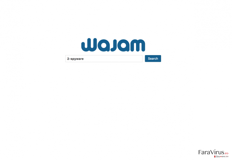 main page of Wajam search