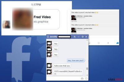 Exemple ale virusului Facebook Message