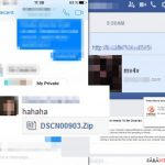 Virusul Facebook captură de ecran